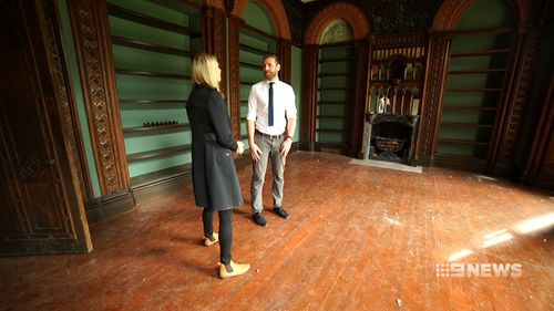 Ben Whittington from Maison Real Estate showed reporter Amelia Adams around the castle.
