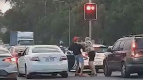 Road rage incident turns violent at Queensland intersection