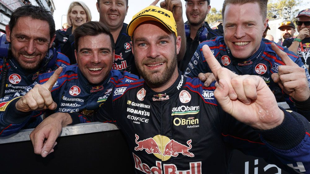 Shane van Gisbergen finished his grand year with a win. (AAP)
