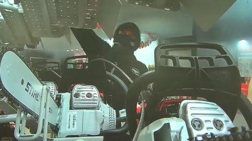 The masked thieves raided the Monbulk hardware store three weeks ago. (9NEWS)