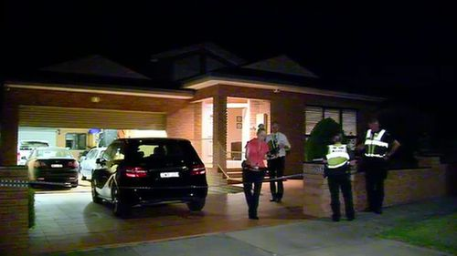 Police have established a crime scene at a Noble Park home after a man was shot overnight. (9NEWS)