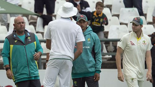 Coach Darren Lehmann was exonerated by Steve Smith but how did he let the Aussie team sink so low. Picture: AAP