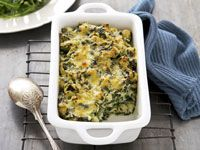 Creamy spinach pasta bake
