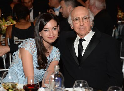 Cazzie David and actor Larry David attend 41st AFI Life Achievement Award Honoring Mel Brooks at Dolby Theatre on June 6, 2013 in Hollywood,