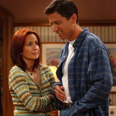 Patricia Heaton and Ray Romano star in Everybody Loves Raymond.