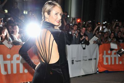 "George Clooney's new woman, actress Stacy Keibler at ""The Ides Of March"" Premiere in Toronto, Canada."