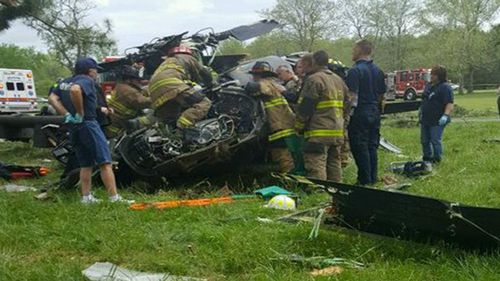 The Blackhawk was destroyed in the crash.