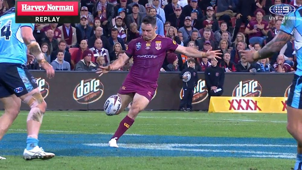 State of Origin: Cooper Cronk brilliance sets up Queensland Maroons try against NSW Blues