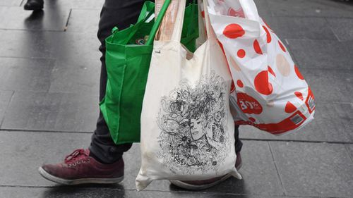 If the ban was expanded, shoppers would be forced to use fabric bags such as the one picture (centre).