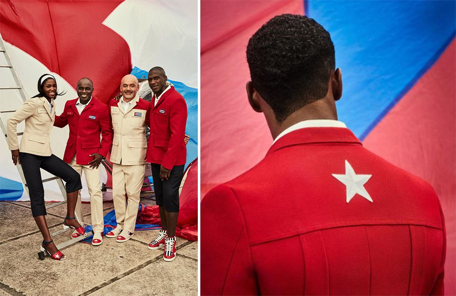 Christian Louboutin takes on the Cuban Olympic uniform