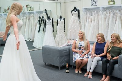 <em>Married at First Sight</em>'s Ashley trying on dresses before for her mother and sisters
