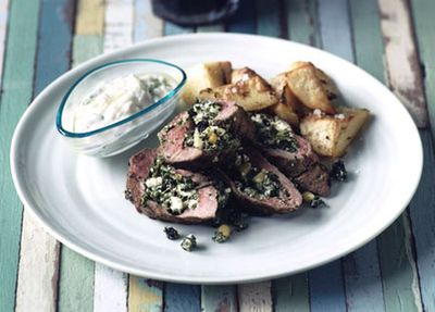 "Recipe: <a href=""http://kitchen.nine.com.au/2016/05/20/11/17/barbecued-lamb-loin-with-lemon-potatoes-and-tzatziki"" target=""_top"">Barbecued lamb loin with lemon potatoes and tzatziki</a>"