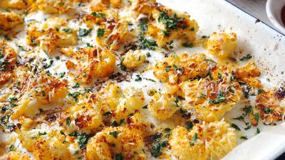 "Recipe: <a href=""https://kitchen.nine.com.au/2017/06/01/17/09/the-nude-nutritionist-baked-parmesan-cauliflower"" target=""_top"">The Nude Nutritionist's baked parmesan cauliflower</a>"