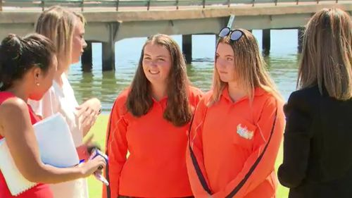 Grace and Erica said they wouldn't describe themselves as heroes, despite their courageous efforts. (9NEWS)