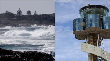 There are domestic flight delays at Sydney Airport with dangerous winds smashing the NSW Coast.