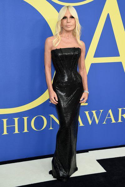 Donatella Versace in Versaceat the 2018 CFDA Awards