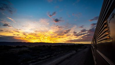Sunset from The Ghan