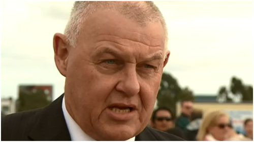 Victoria Police Association Secretary Ron Iddles attended the rally this afternoon. (9NEWS)