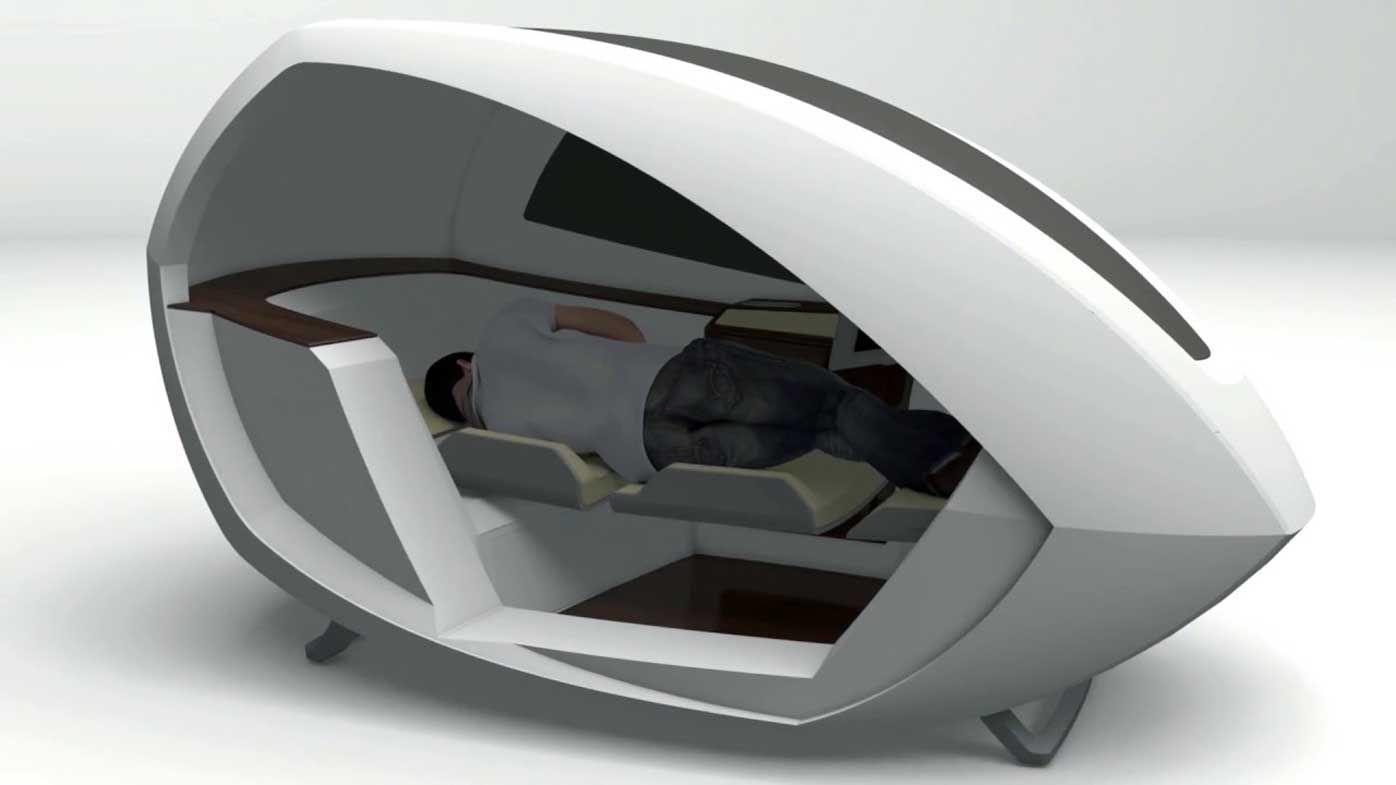 Airpod airport sleeping capsules