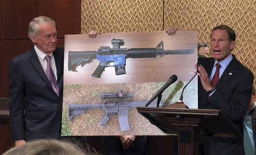 The plans for the weapons, which are harder to detect under metal detectors, were placed under a restraining order in an 11th-hour after more than a dozen attorneys-general rallied against them. Picture: AP.