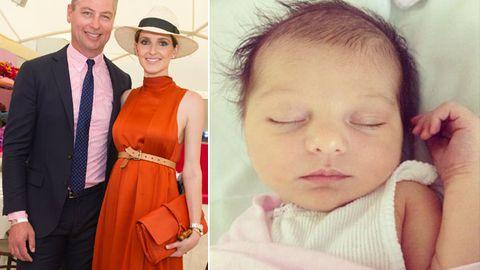 Kate Waterhouse shares adorable snap of six-day-old daughter Sophia