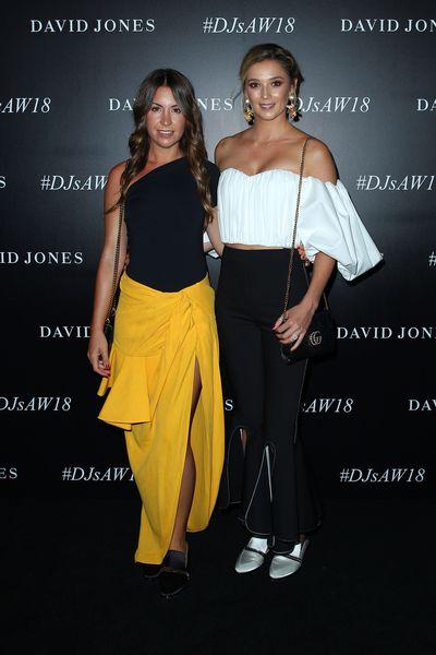 Jasmine Yarbrough and Tammy Ingham at the David Jones Autumn/Winter 2018 launch