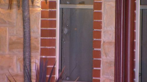 A 23-year-old man and his three-year-old daughter were asleep inside at the time.