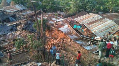 Devastation in the Gorkha district, near the epicentre of quake. (Twitter: WVAsia)