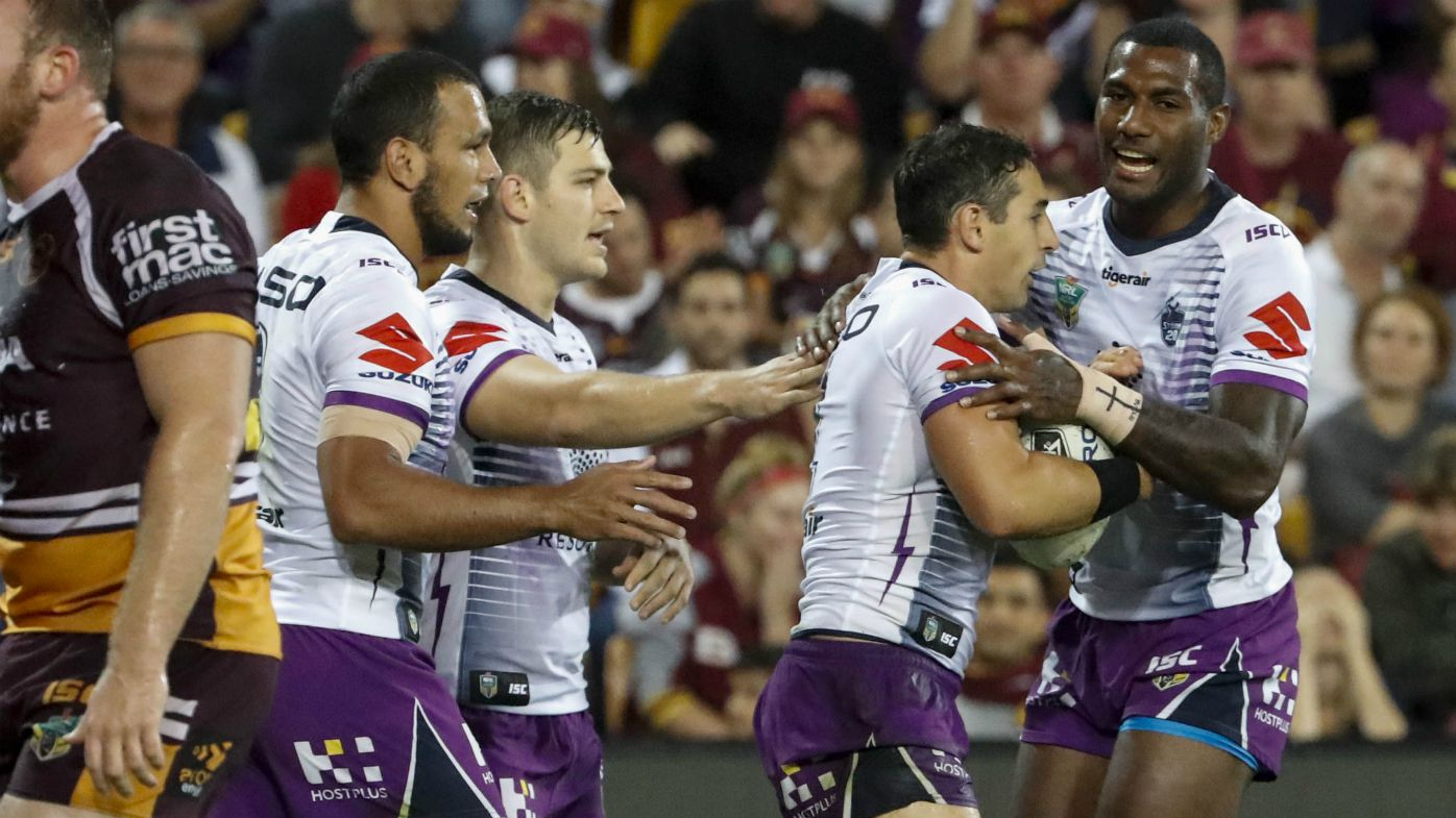 Controversial Slater try in Storm NRL win