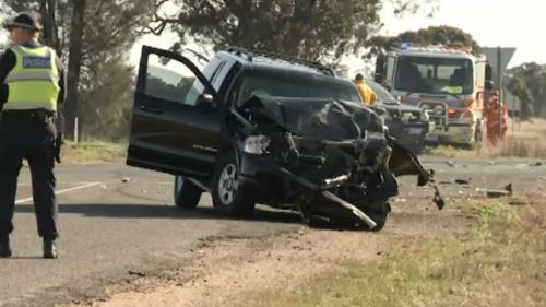 Police are still investigating the exact circumstances of the Lubeck crash. (9NEWS)