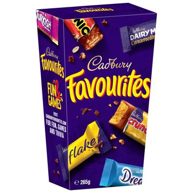 Cadbury Favourites variety pack of chocolates