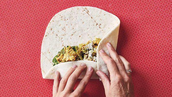 Sarah Wilson's breakfast burritos, Simplicious Flow