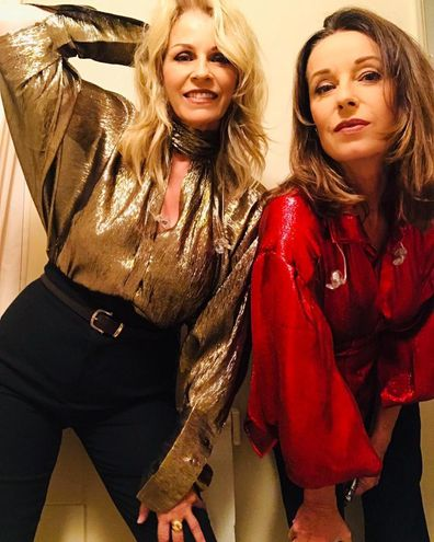 Sara Dallin and Keren Woodward after performing a Bananarama concert in Osaka, Japan in August 2019