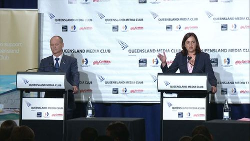 Palaszczuk's performance was said to be an improvement on last week. (9NEWS)