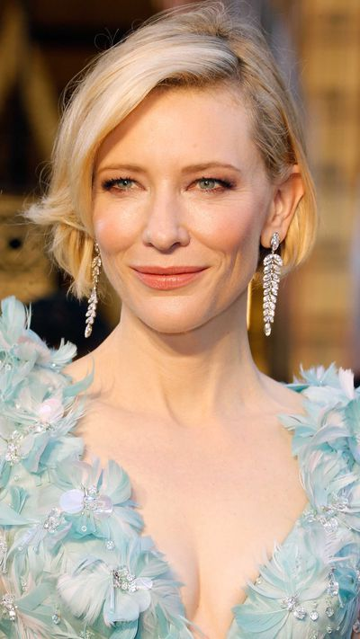 Cate Blanchett in Tiffany & Co. earrings.