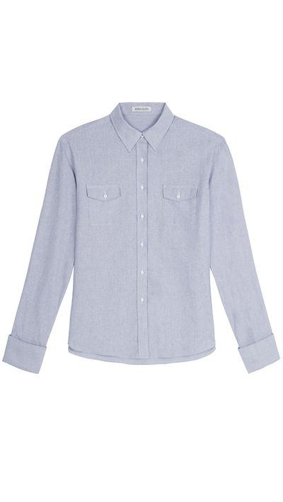 """<a href=""""http://www.annaquan.com"""" target=""""_blank"""">Shirt, $300, Anna Quan</a>"""