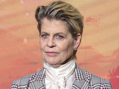 Linda Hamilton, Terminator: Dark Fate, press conference, October 23, 2019, Beijing, China.