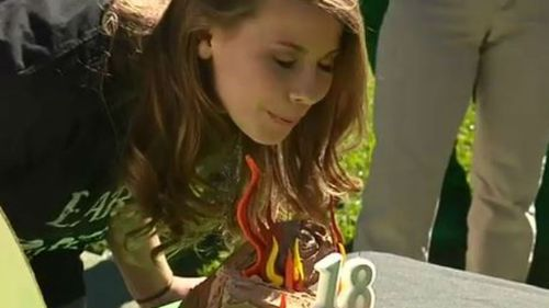 Bindi's birthday party was camping themed. (9NEWS)