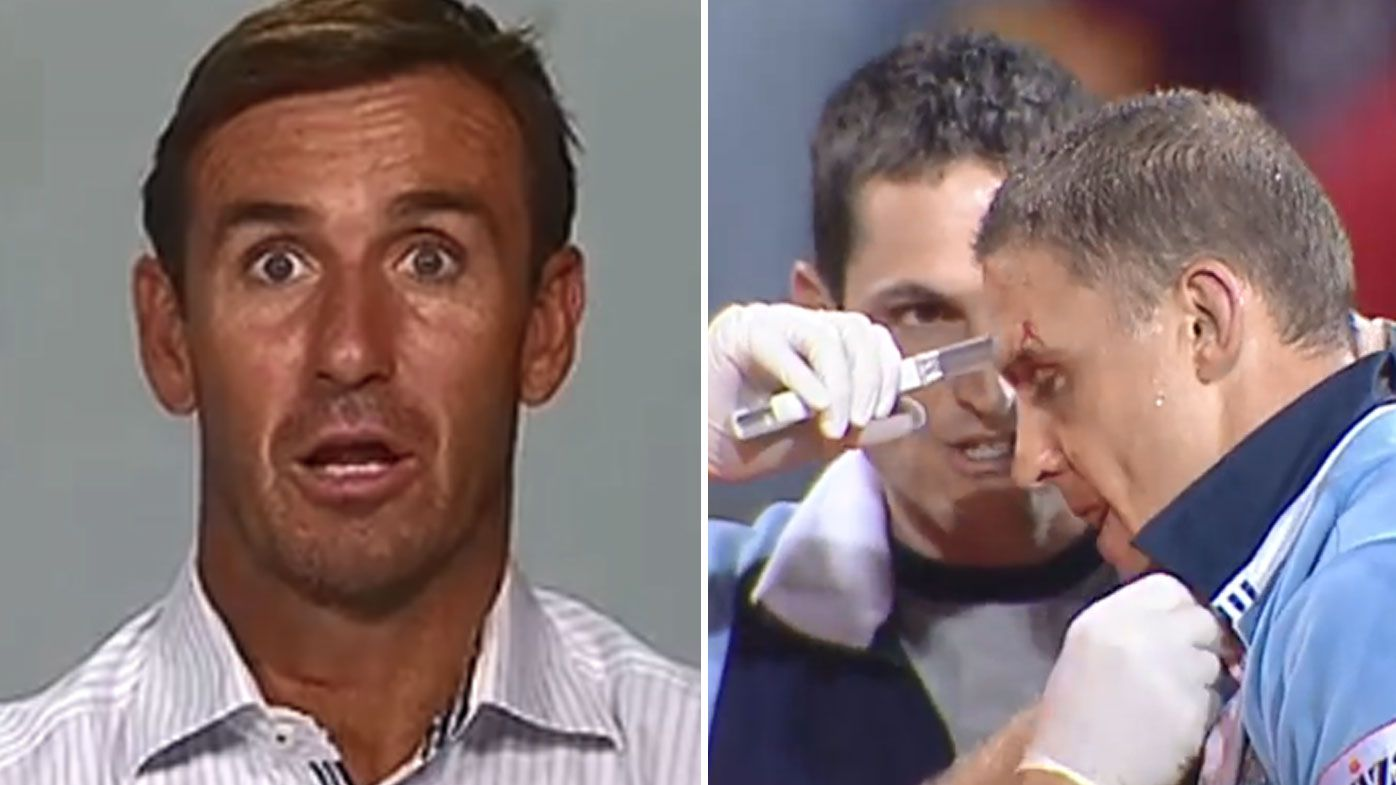 Andrew Johns recalls 'friends horrified' over staple gun State of Origin incident with Michael DeVere