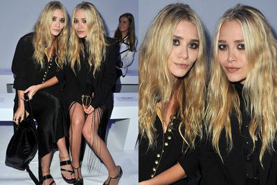 Mary-Kate and Ashley Olsen are hipster...but high-class hipster. We're talking really, really expensive clothes that look like junk. And that scraggly hair. Oh the hair.