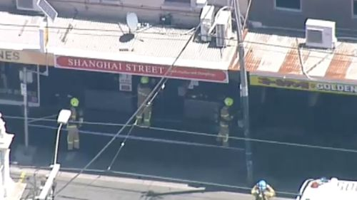 Fire has torn through the rear of Chapel Street restaurant, Shanghai Street.