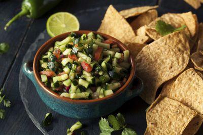 <strong>Homemade salsa</strong>
