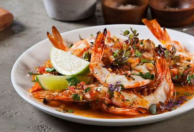 Michael Giarrusso's barbecue king prawns