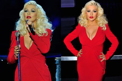 Christina Aguilera was already looking like a red-hot wonder only three months after giving birth to daughter Summer Rain in August.