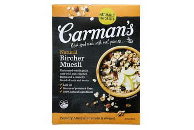 Carman's Natural Bircher Muesli: Almost 2 teaspoons of sugar