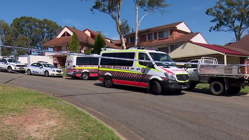 It is believed the man died after becoming stuck in a driveway. (9NEWS)