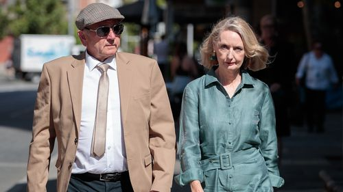 Don Spiers and Carol Spiers, the parents of Sarah Spiers arrive at the Supreme Court of Western Australia in Perth.