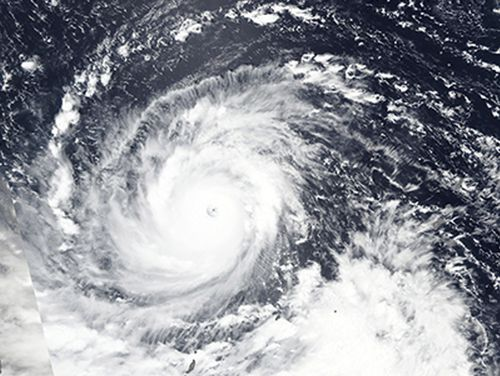 Super Typhoon Mangkhut churns west towards the Philippines having already taken out power in Guam.
