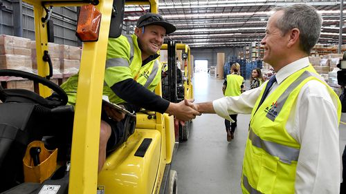 """""""If you are doing the same job, you should get the same pay,"""" Mr Shorten says. Picture: AAP"""