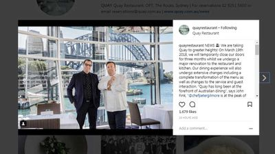 """<p><span style=""""text-decoration: underline;"""">Sydney: Quay announces renovation plans</span></p> <p><span style=""""text-decoration: underline;""""></span>It's one of Sydney's most iconic restaurants, recognised internationally for <a href=""""https://kitchen.nine.com.au/2017/03/25/21/56/news-bites-poke-gelato-messina-perth-ledbury"""" target=""""_top"""" draggable=""""false"""">holding a place in the World's 50 Best Restaurant's top 100</a> and putting a spotlight on more unusual produce. Now, Peter Gilmore's Quay restaurant will be having a makeover, with the lauded and awarded restaurant, located in the Overseas Passenger Terminal in Sydney's The Rocks is set for a 2018 upgrade. But don't worry, that sweeping view directly across the harbour to Gilmore's <em>other</em> restaurant (Bennelong in the Sydney Opera House) will still be there. Talk about breathtaking bookends to the harbour.</p> <p><em>Click through for more news</em></p>"""